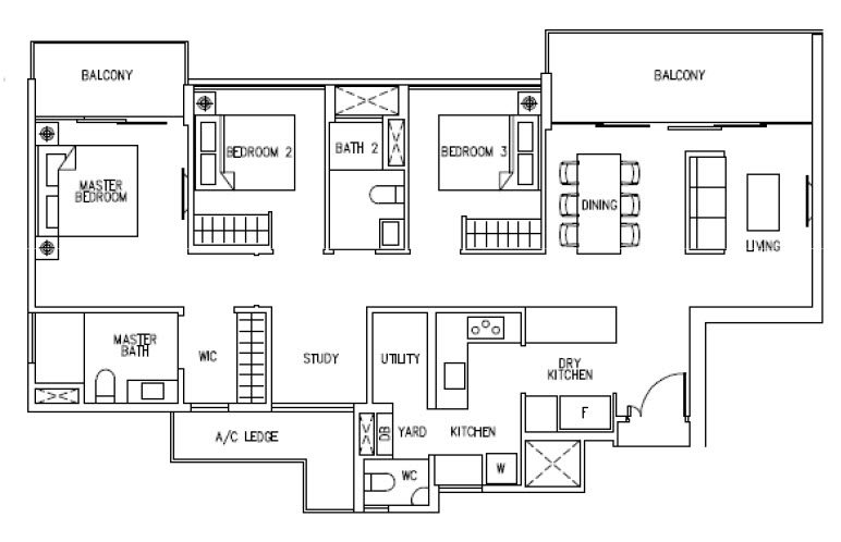 3 Bedroom CoSpace