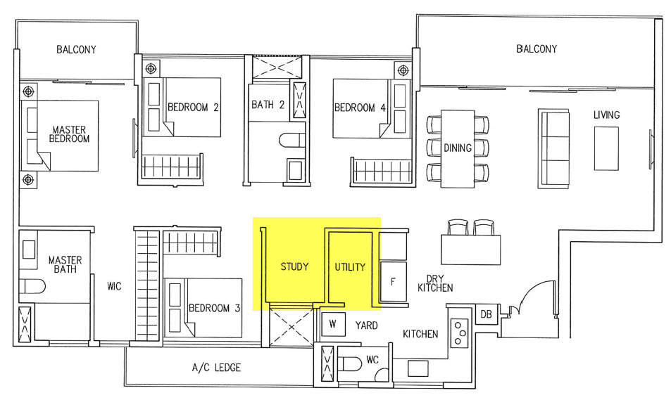 4 Bedroom CoSpace Option 1