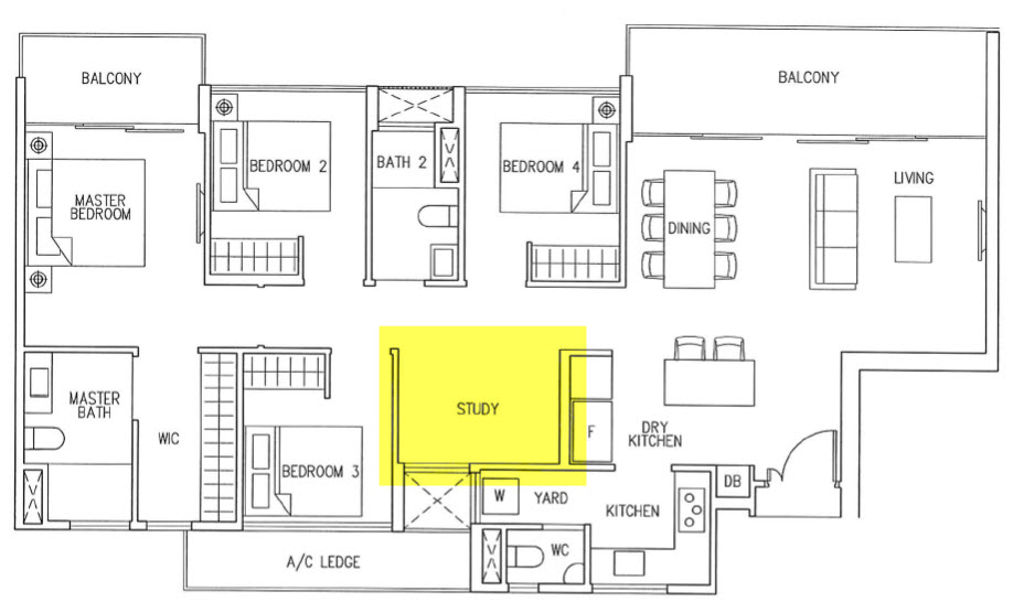 4 Bedroom Cospace Option 2