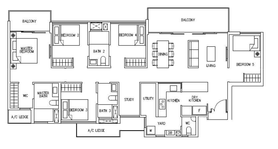 5 Bedroom Cospace